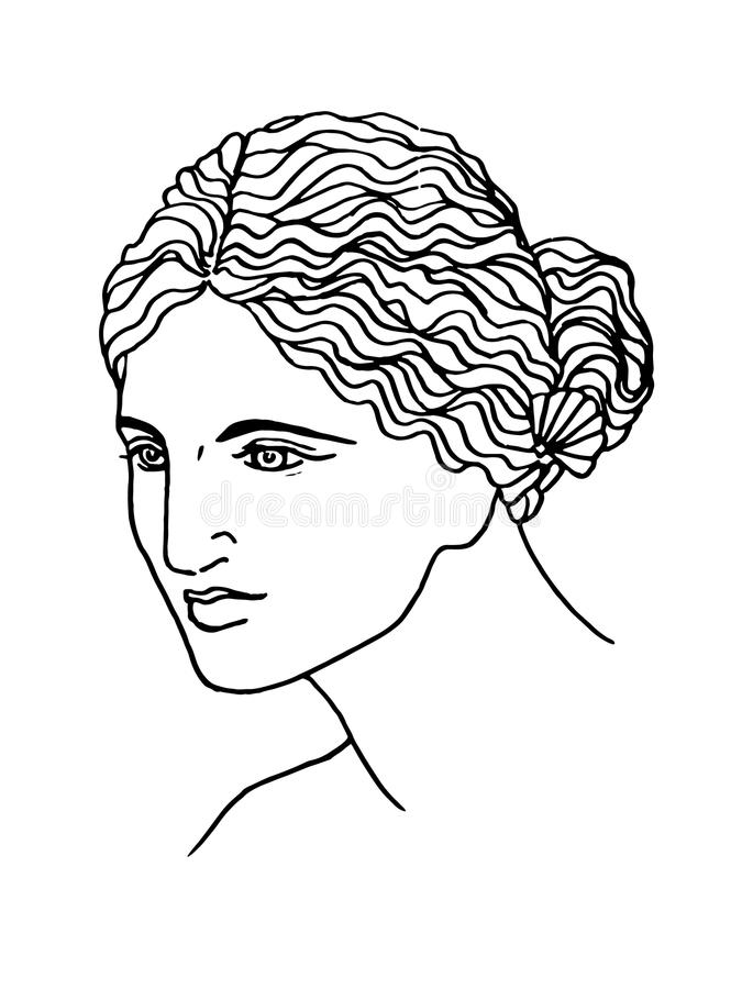 The ancient Greek goddess of love. Vector, isolated on white vector illustration