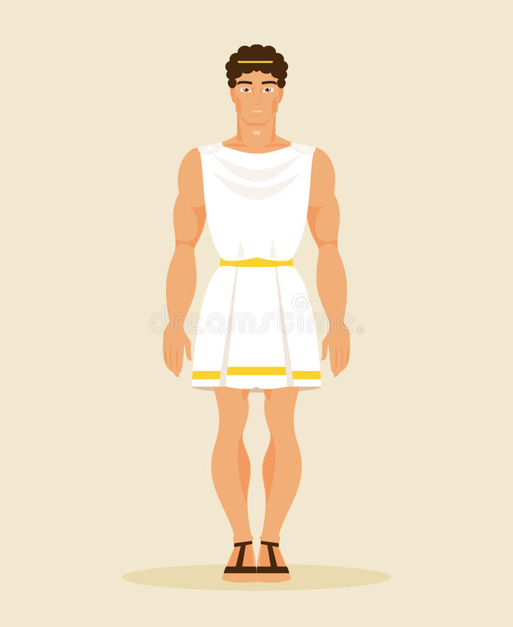 Download Ancient Greek Man Vector Illustration Stock