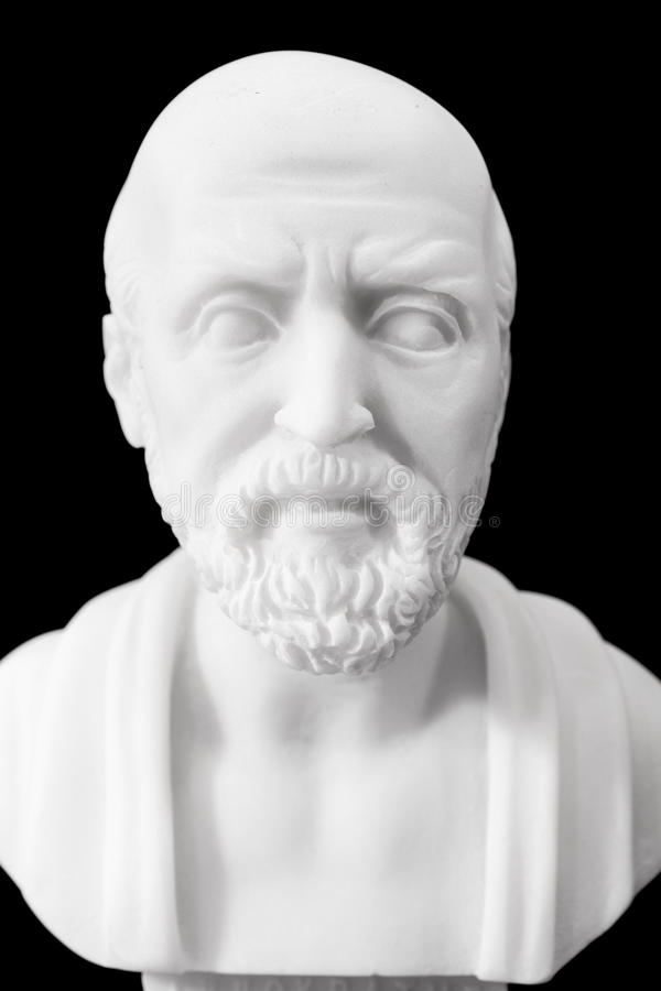Ancient Greek physician stock photos