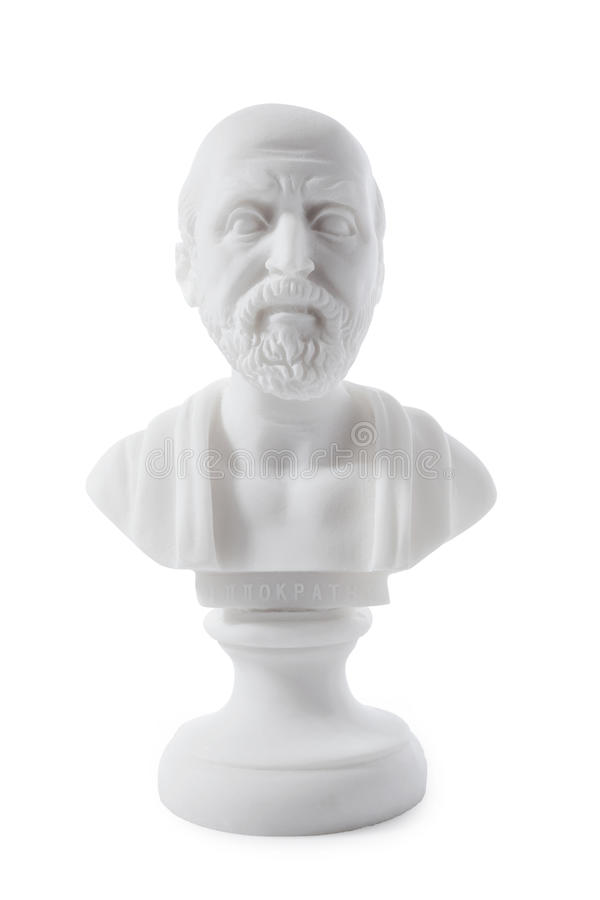 Ancient Greek physician stock photo