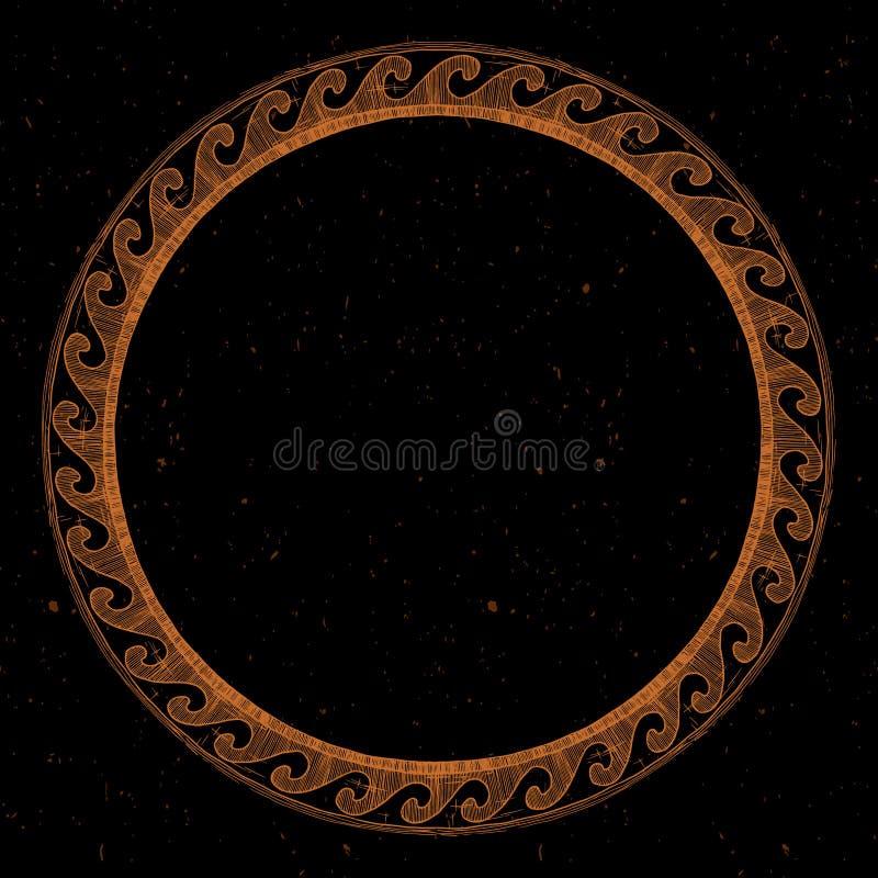 Ancient Greek round ornament. vector illustration