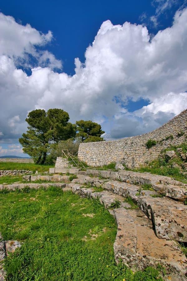 Ancient Greek Ruins In Akrai Royalty Free Stock Images