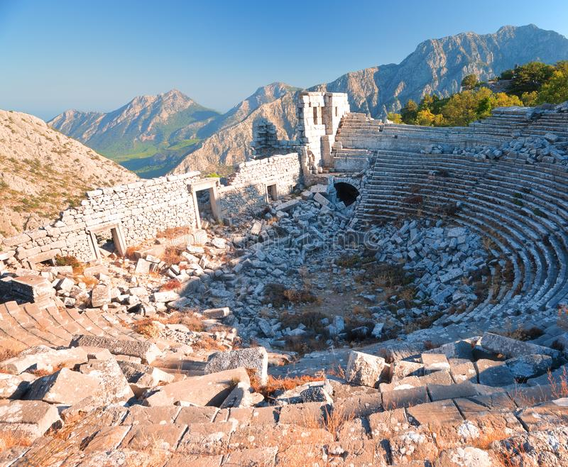 The Ancient Greek Ruins of Termessos in Turkey stock photo
