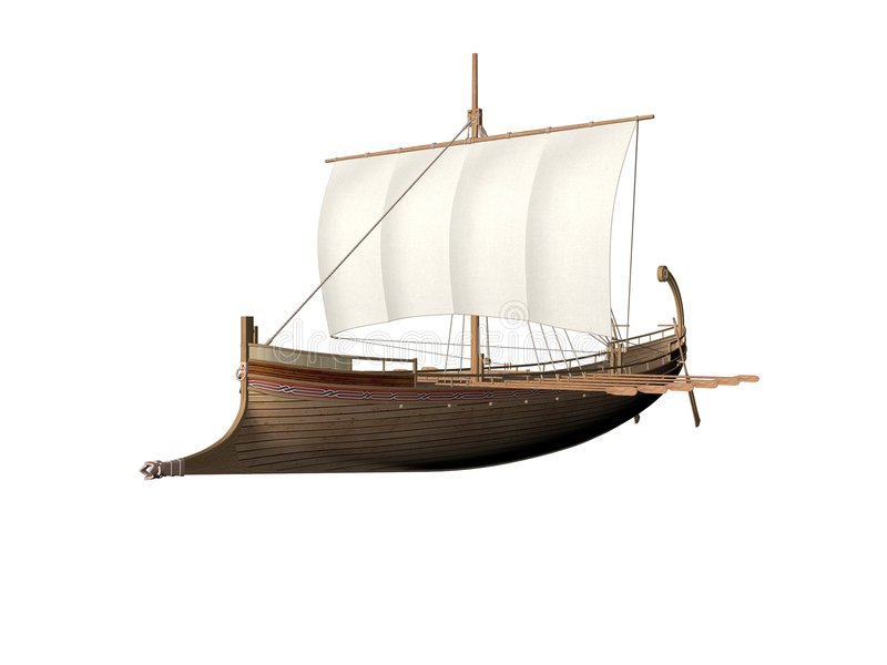 Download Ancient Greek Ship stock illustration. Image of wind, history - 5802127
