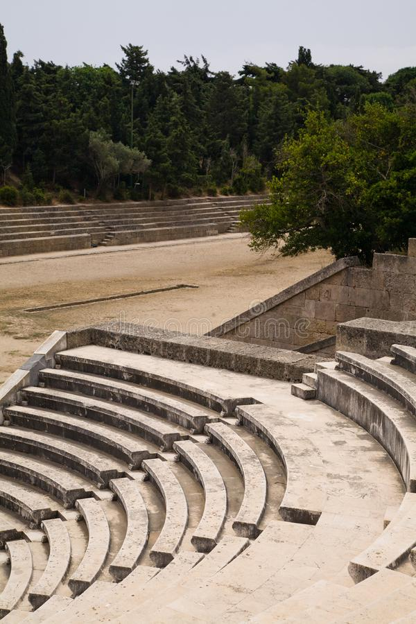 Ancient Greek Sports Stadium And Theatre