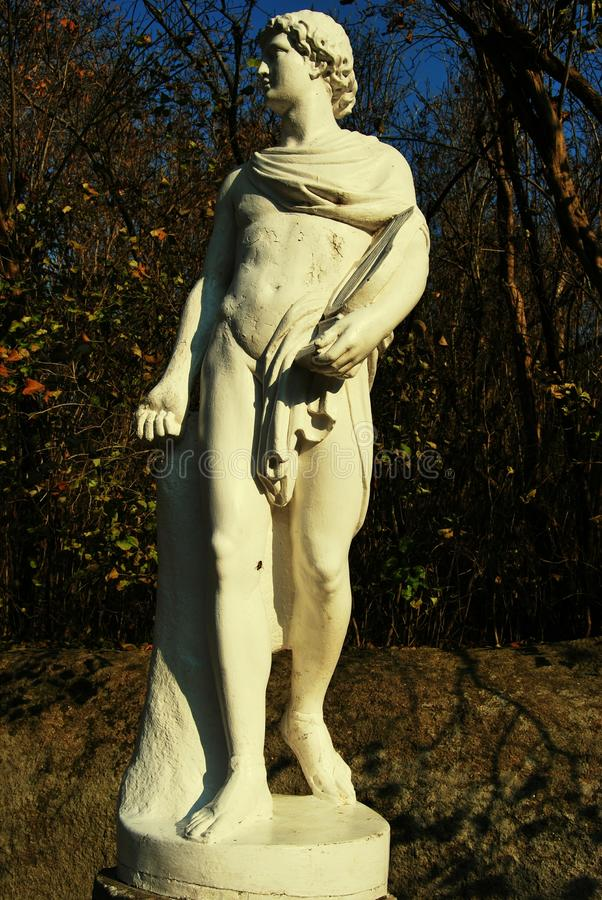 Ancient Greek statue. Classical Greek statue in uman dendropark royalty free stock image