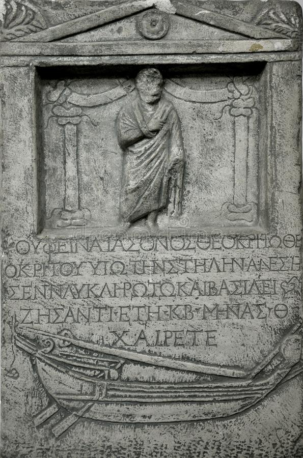 Download Ancient greek stone tomb stock image. Image of finance - 20904159