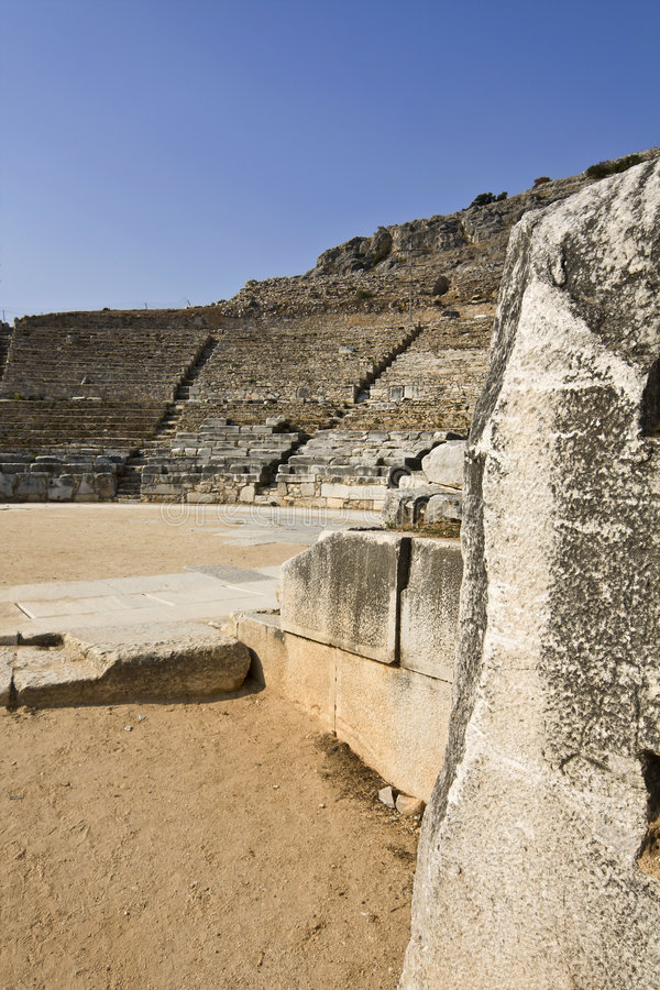 Download Ancient Greek theater stock image. Image of archeological - 7320211
