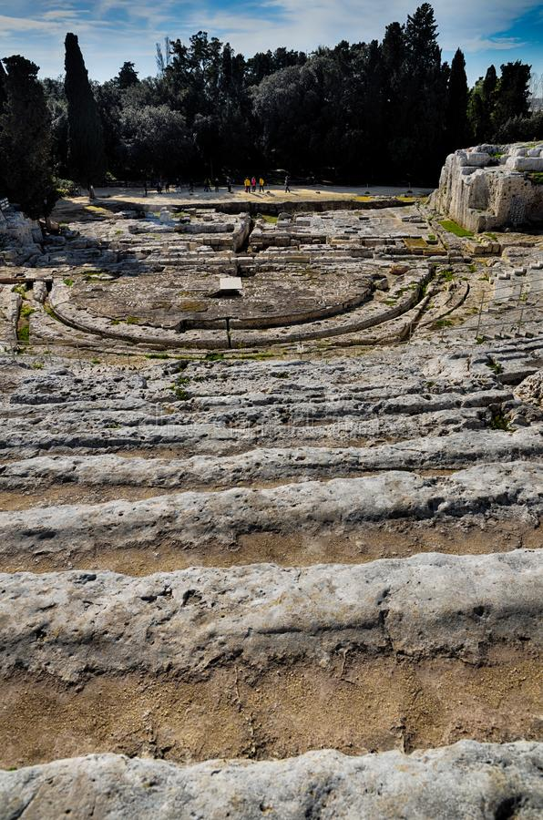 Download Ancient Greek Theater In Syracuse Neapolis, Sicily, Italy Stock Photo - Image of ruins, mediterranean: 109208254