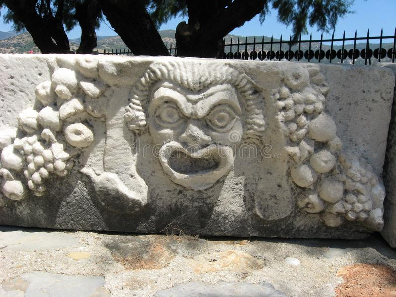 Ancient Greek Theatre Mask royalty free stock photos