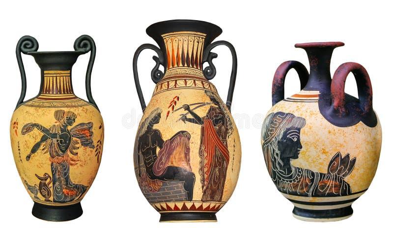 Ancient Greek Vase Isolated On White Background Stock Image Image