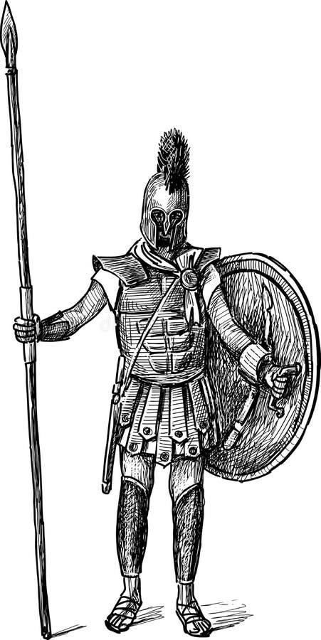 Download Ancient Greek warrior stock vector. Image of classical - 41844303