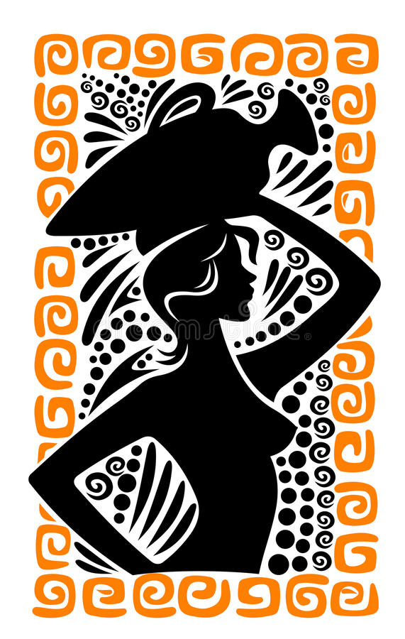 Download Ancient greek woman stock vector. Image of illustration - 24269469