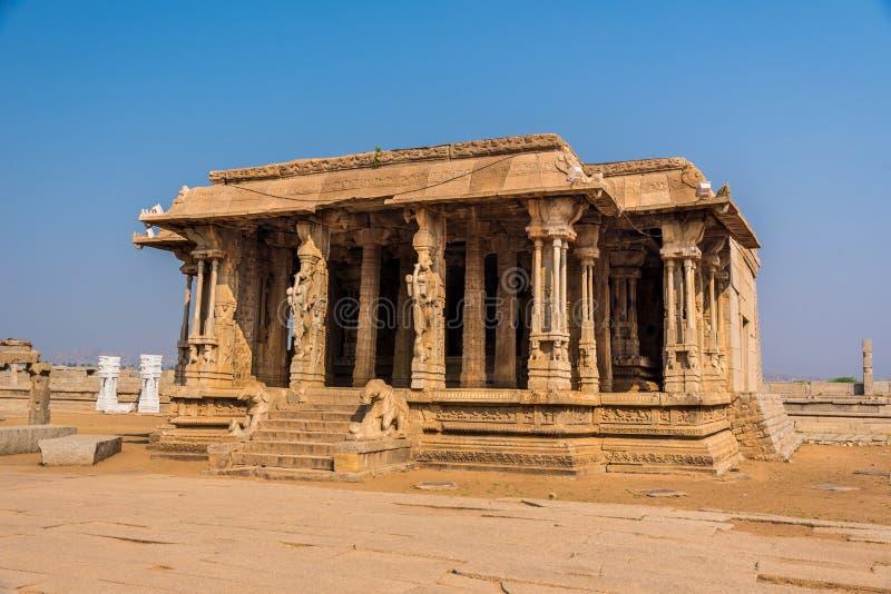 Ancient Hampi ruins royalty free stock photo