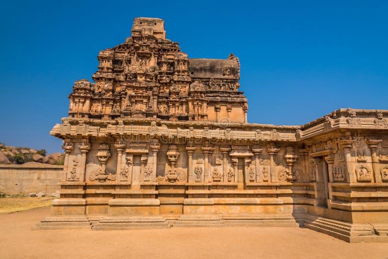 Ancient Hampi temple ruins stock photo