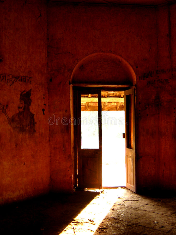 Ancient but Haunted. An ancient haunted house interiors royalty free stock photography