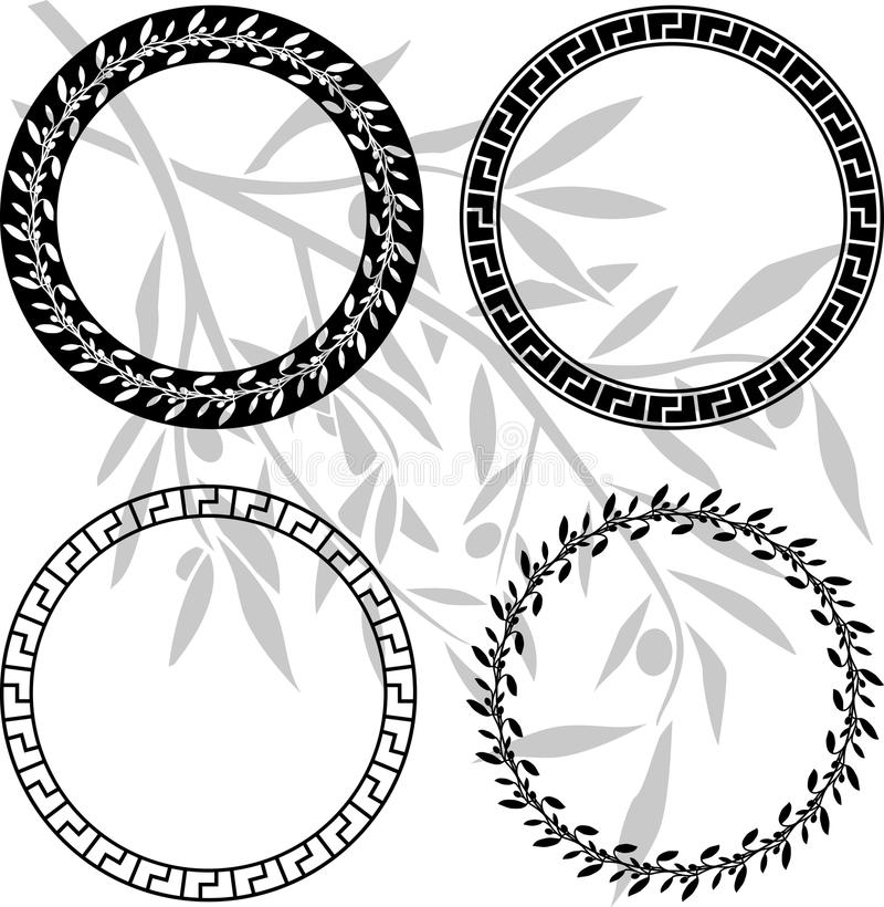 Download Ancient Hellenic Patterns In Rings Stock Vector - Illustration of computer, elegance: 18077022