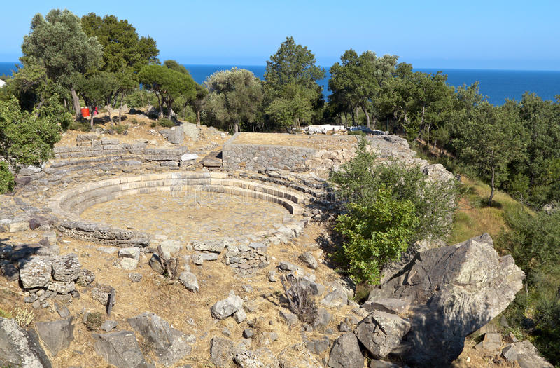 Download Ancient Hellenistic Theater At Samothraki Stock Image - Image: 20248443