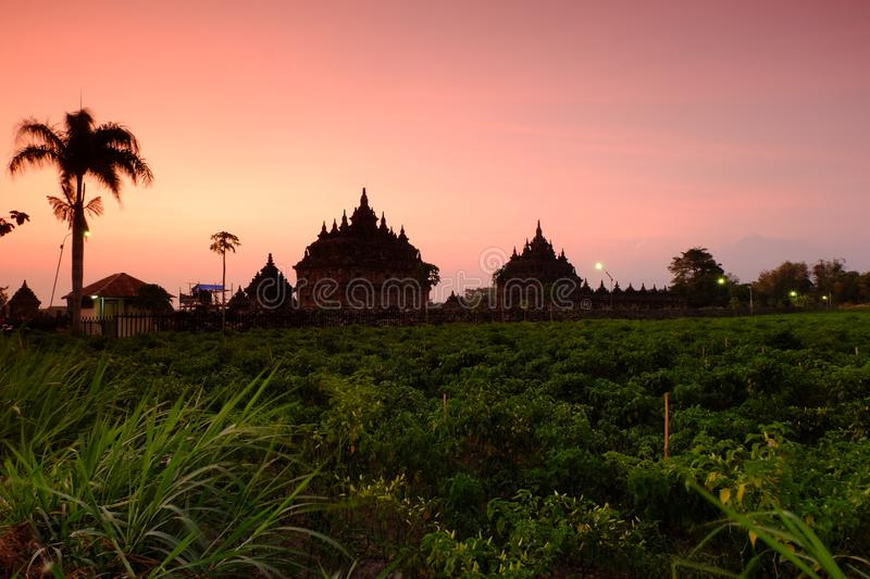 Ancient heritage sites in Java royalty free stock photo