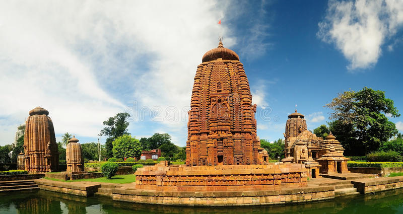 Ancient Hindu religion temples stock image