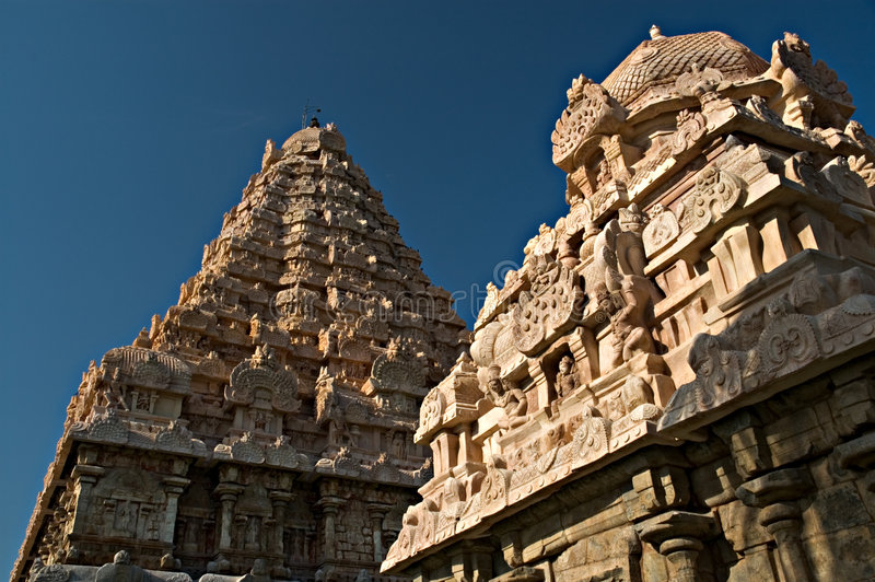 Ancient Hindu Temple in India. This is the ancient Gangai Konda Cholapuram temple in Tamil Nadu, India stock image