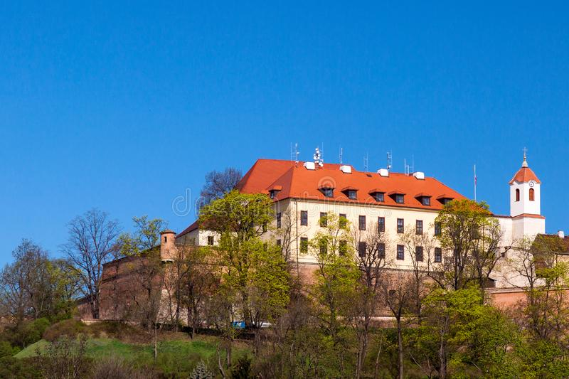 Ancient historic castle Spilberk in Brno, Czech Republic.  royalty free stock photo