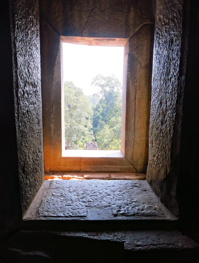 Ancient history window royalty free stock photos