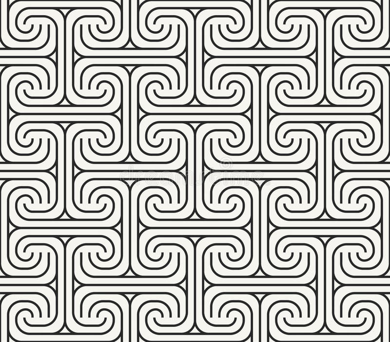 Ancient Hittite ornamental rug fabric repeating texture - vector royalty free illustration