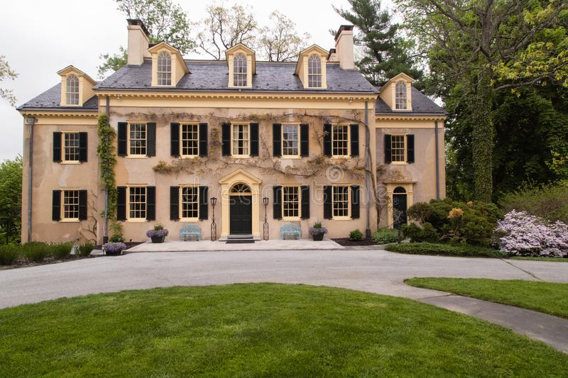 Ancient house and architecture details. Gilded age of american history. royalty free stock photography