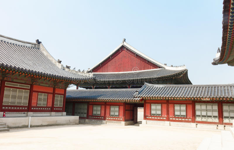 Ancient house of Korean Palace royalty free stock photo