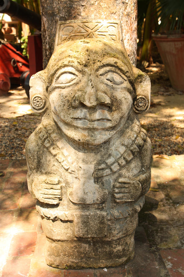 Ancient idol, Colombia stock photos