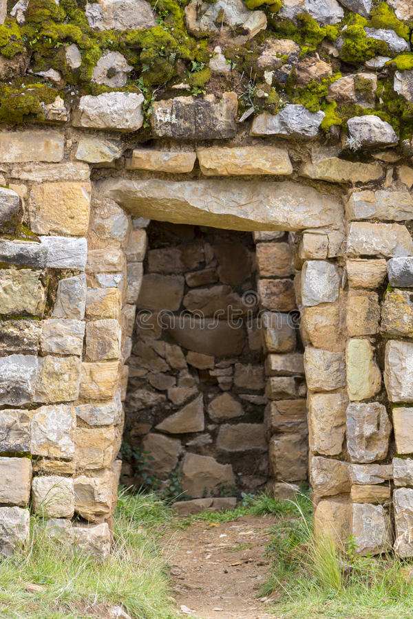 Ancient Incan ruins on Isla del Sol on Lake Titicaca in Bolivia stock photography
