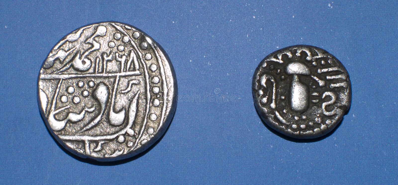 Ancient Indian Coins stock photos