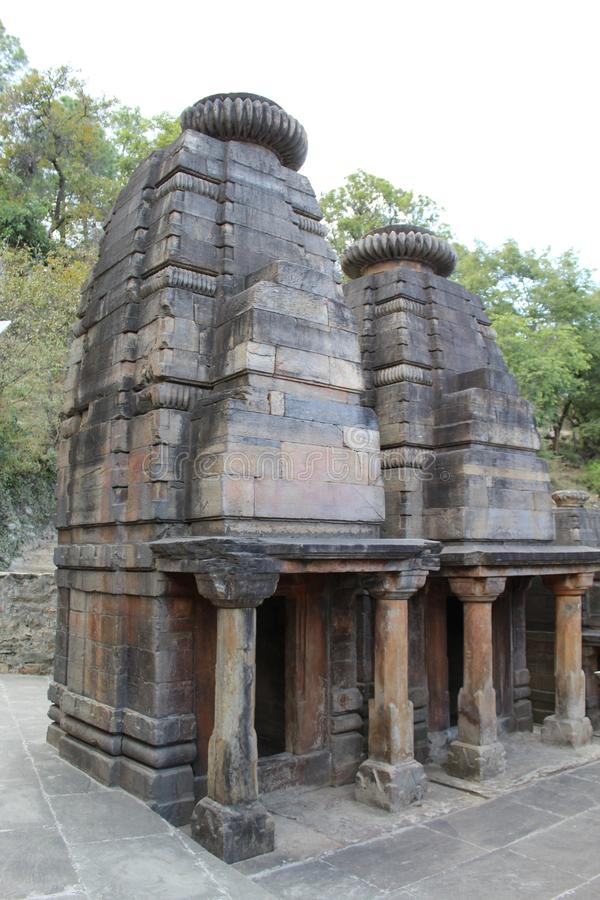 Ancient Indian Ruin With Beautiful Architectural Design royalty free stock photography