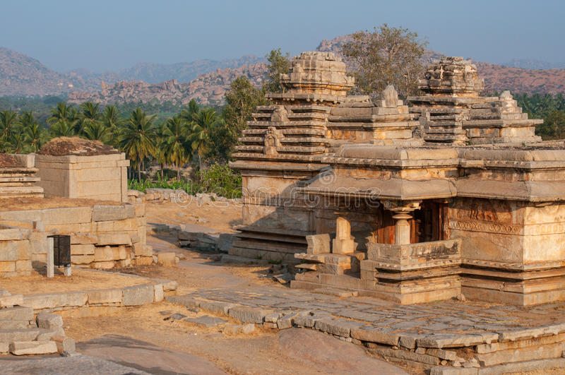Ancient Indian temple, old fortress ruins. Great monument stock photos