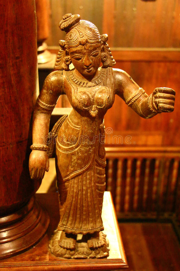 Ancient Indian Wood Statue Folklore Museum Stock Image Image - Ancient india religion