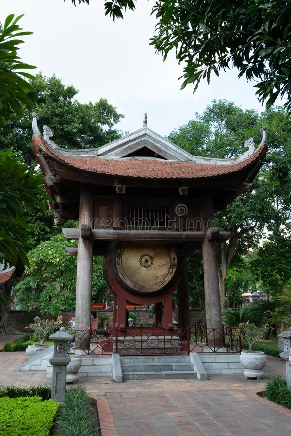 Ancient infrastructure in Buddhist Temple In Vietnam. Travel concept royalty free stock photography