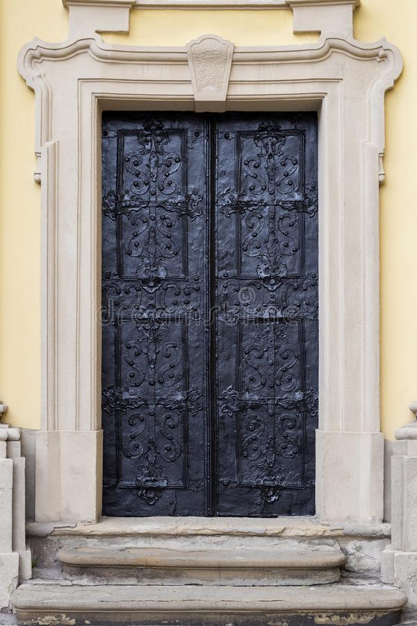 Ancient iron door royalty free stock photo