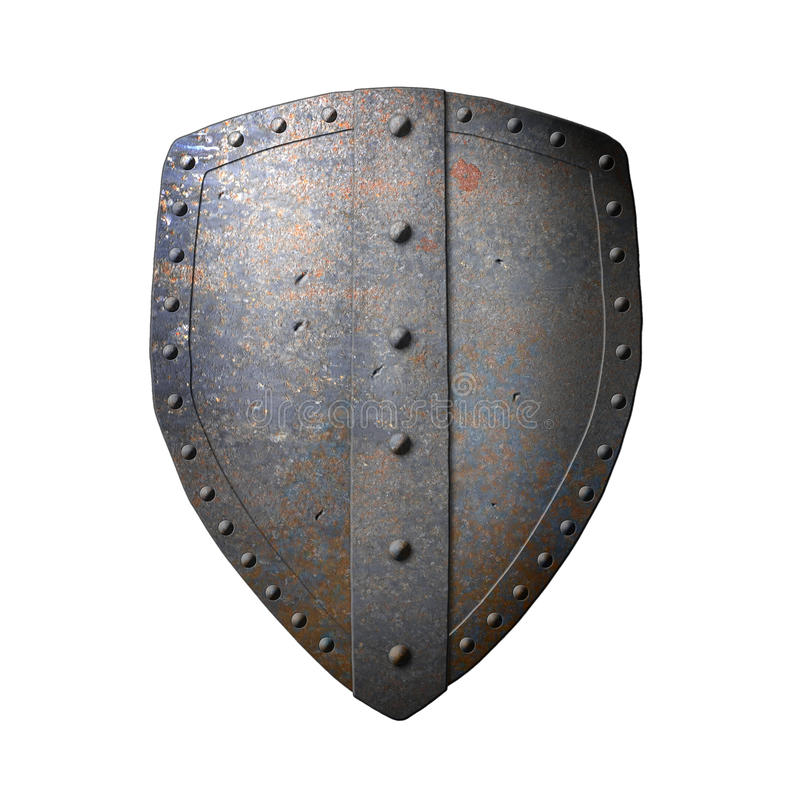 Free Ancient Iron Shield Stock Photography - 18435502