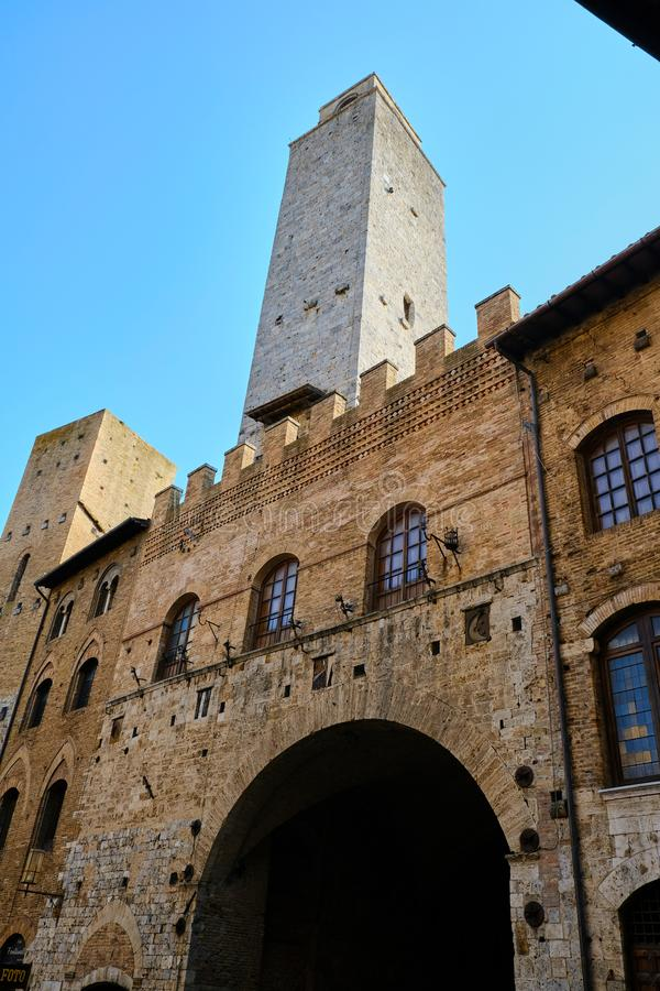 San Gimignano Italy stock images