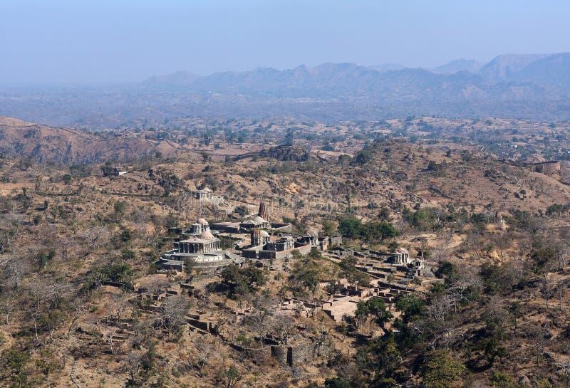 Ancient Jain temples in Kumbhalgarh, Rajasthan, India royalty free stock images