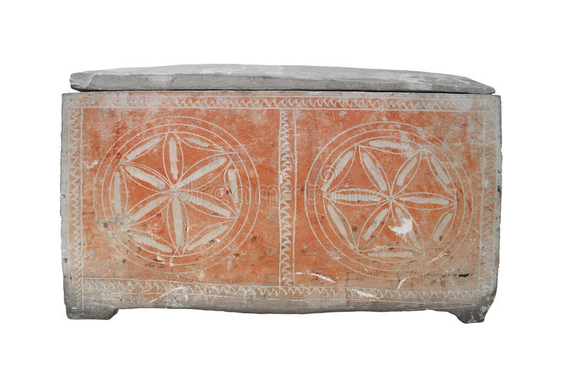 Download Ancient Jewish Stone Coffin Isolated. Stock Image - Image: 28177677