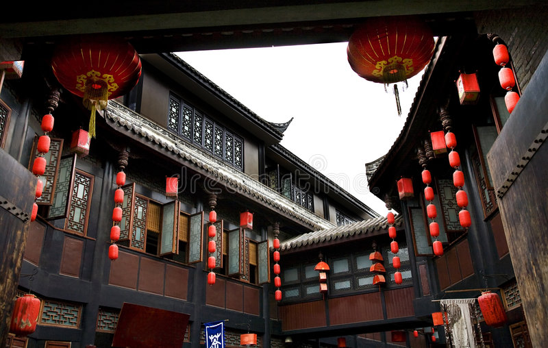Ancient Jinli Street Chengdu Sichuan China royalty free stock images