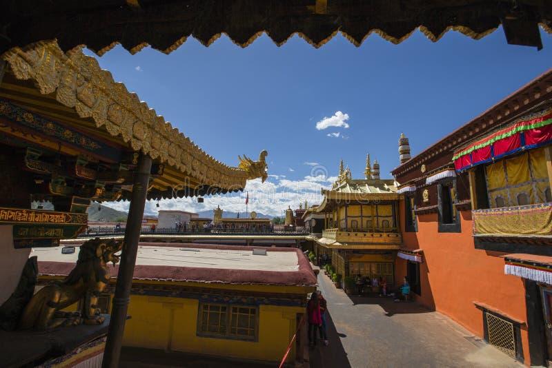 Ancient jokhang temple stock photos