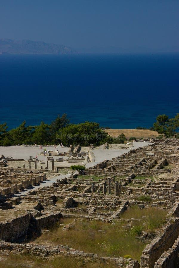 Ancient Kamiros Rhodos Greece architecture historic stock photos