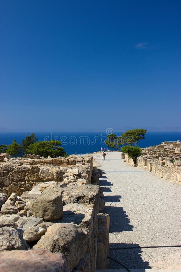 Ancient Kamiros Rhodos Greece architecture historic stock image