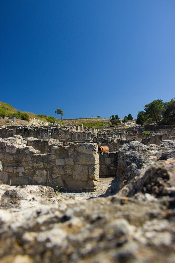 Ancient Kamiros Rhodos Greece architecture historic royalty free stock images