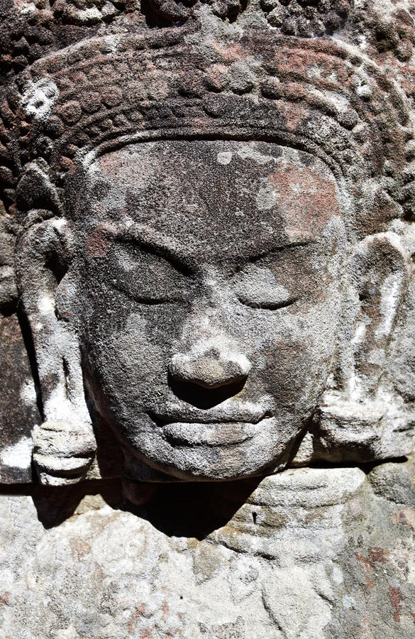 Download Ancient khmer carving stock photo. Image of khmer, asian - 22732388