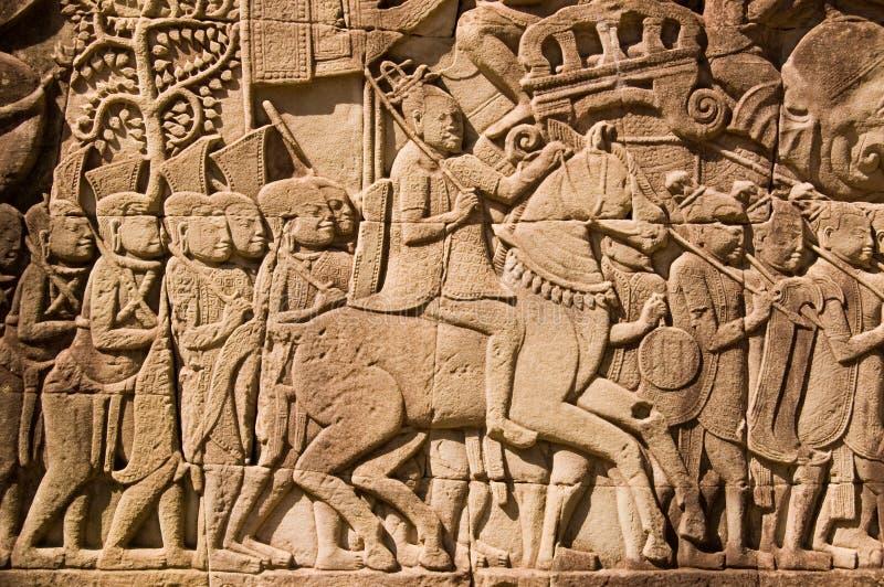 Download Ancient Khmer Military Commander Frieze Stock Image - Image: 23786073