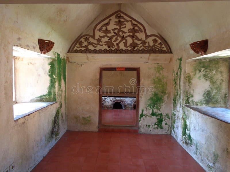 Classic Window water castel in yogyakarta royalty free stock photo